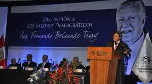 Valores democraticos Fernando Belaunde Terry