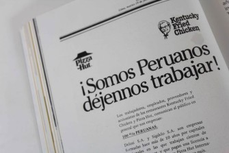 """Somos peruanos, déjennos trabajar"""