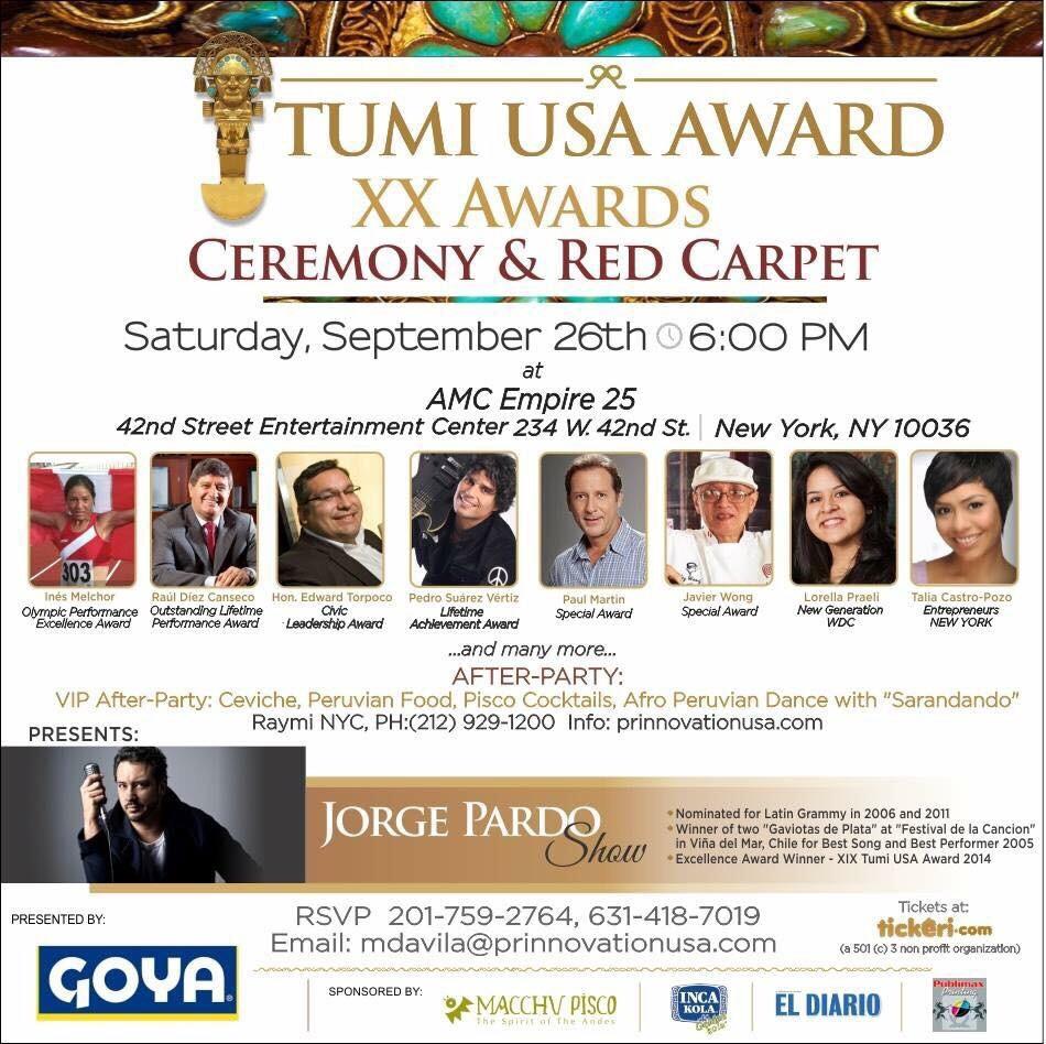 Raul Diez Canseco Tumi USA Award