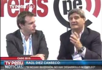 """Raúl Diez Canseco: """"Sin inversión no hay desarrollo ni empleo"""""""
