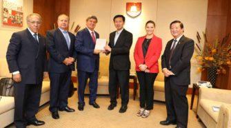 Delegación de la USIL se reunió con ministro de Educación de Singapur